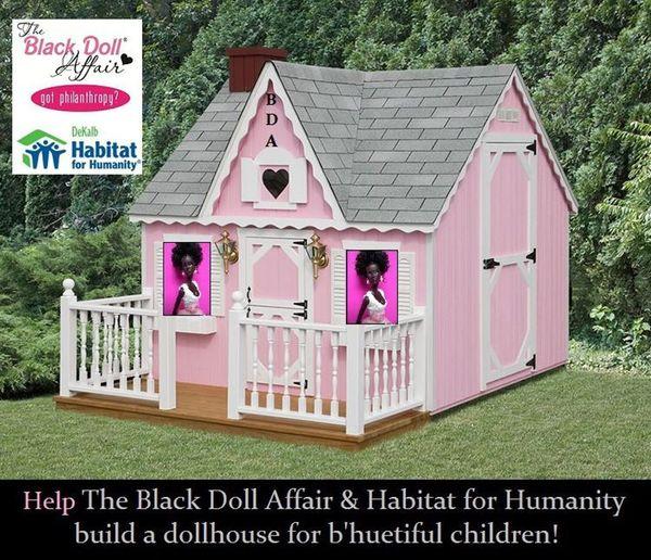Dollhouse Photography Calendar : Habit for humanity black doll affair dollhouse build day