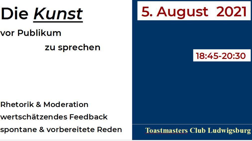Reden und Rhetorik im Toastmasters Club Ludwigsburg