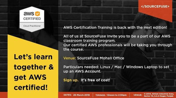 Mohali AWS Cloud Practitioner Certification Training (Session 1 of 4