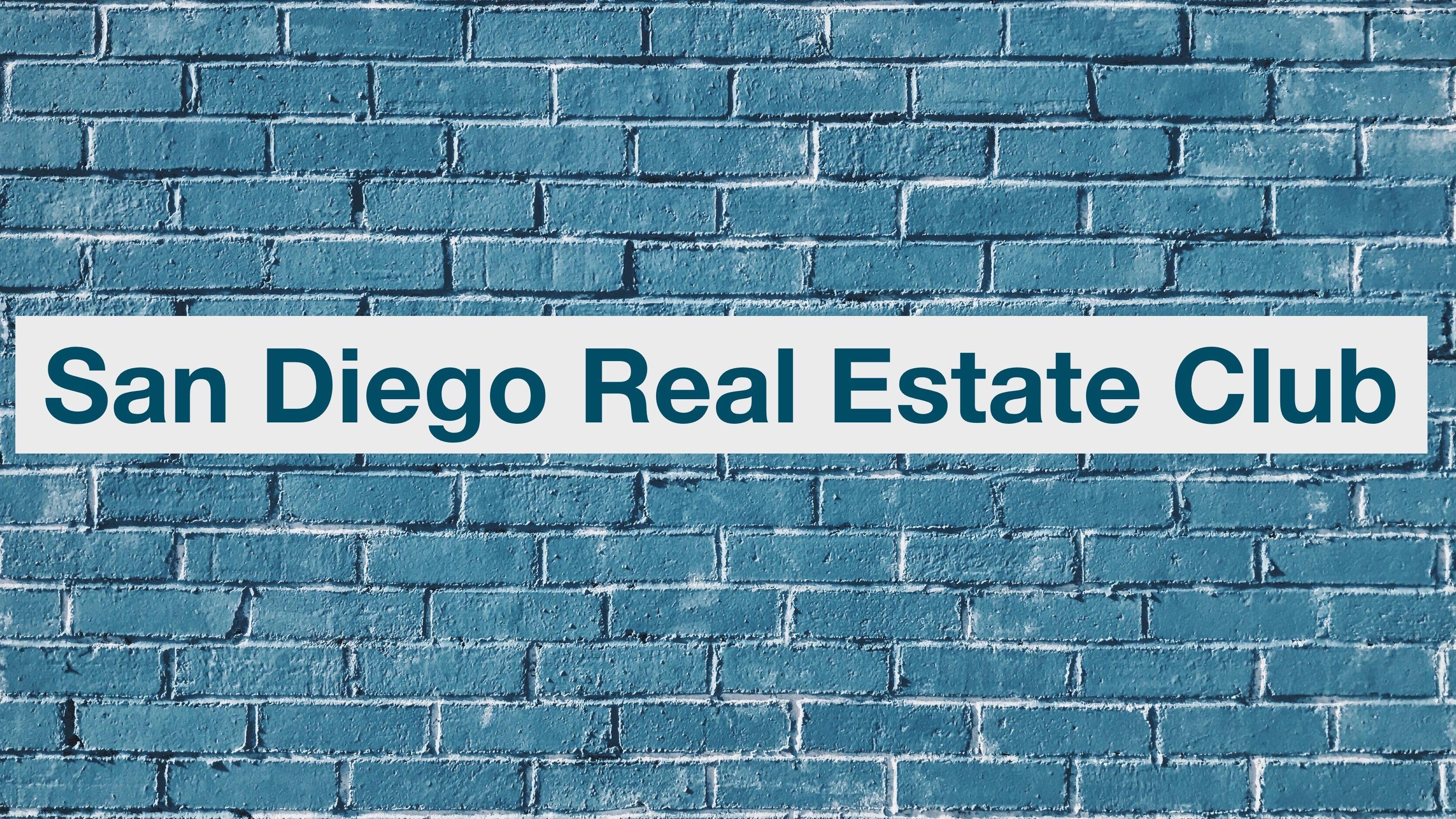 Real estate investment club san diego ca trade interceptor forex mobile gmma