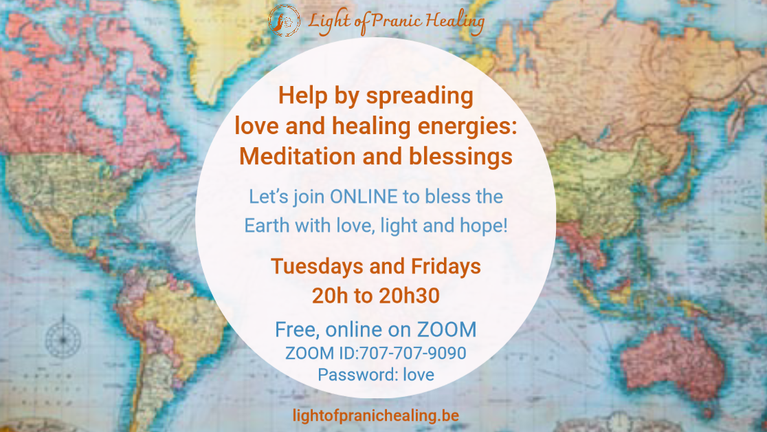 Online Meditation: Help by spreading love and healing energies