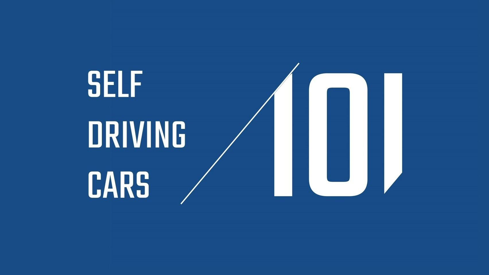 TLV Self Driving Cars 101