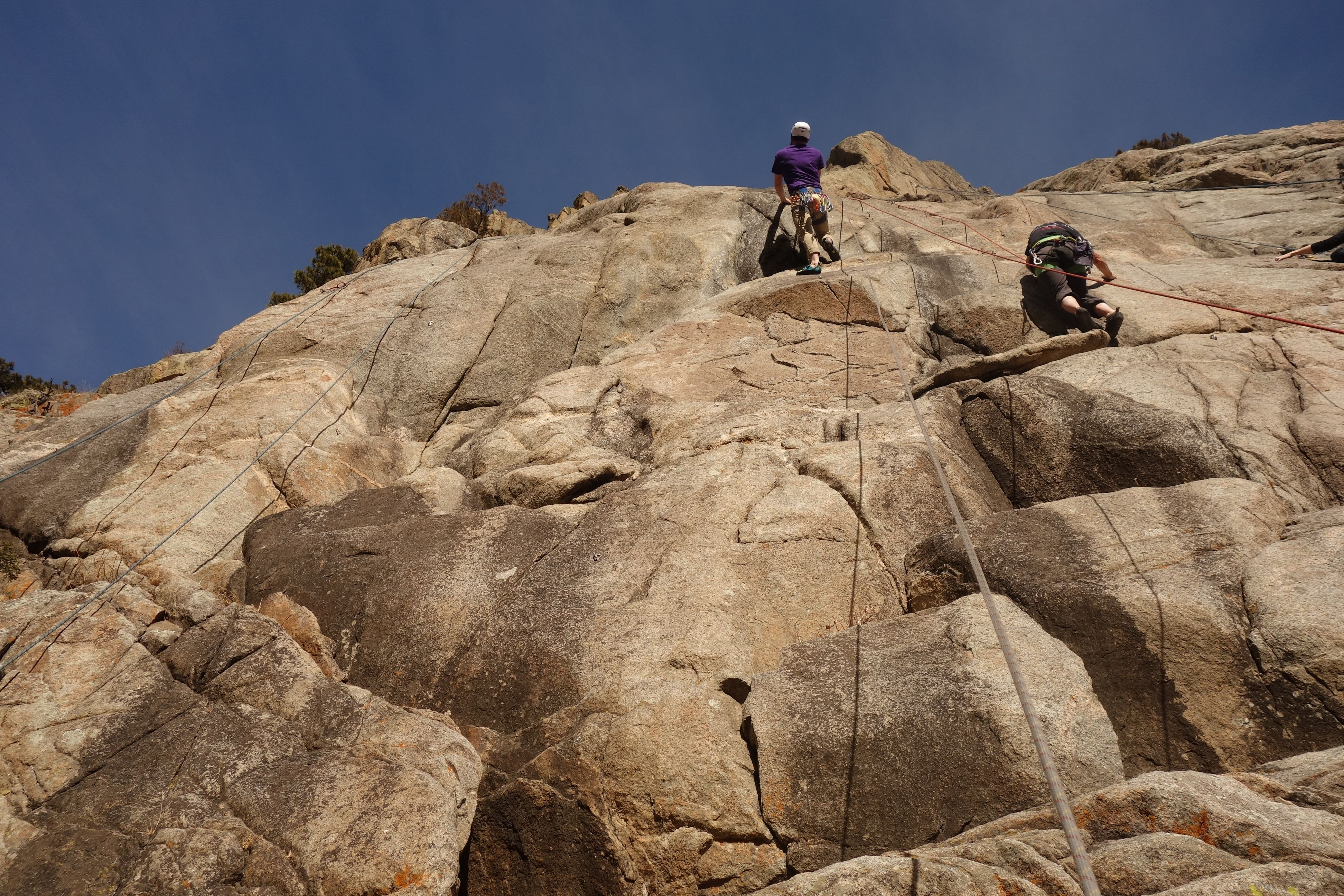 Boulder Rock Climbers