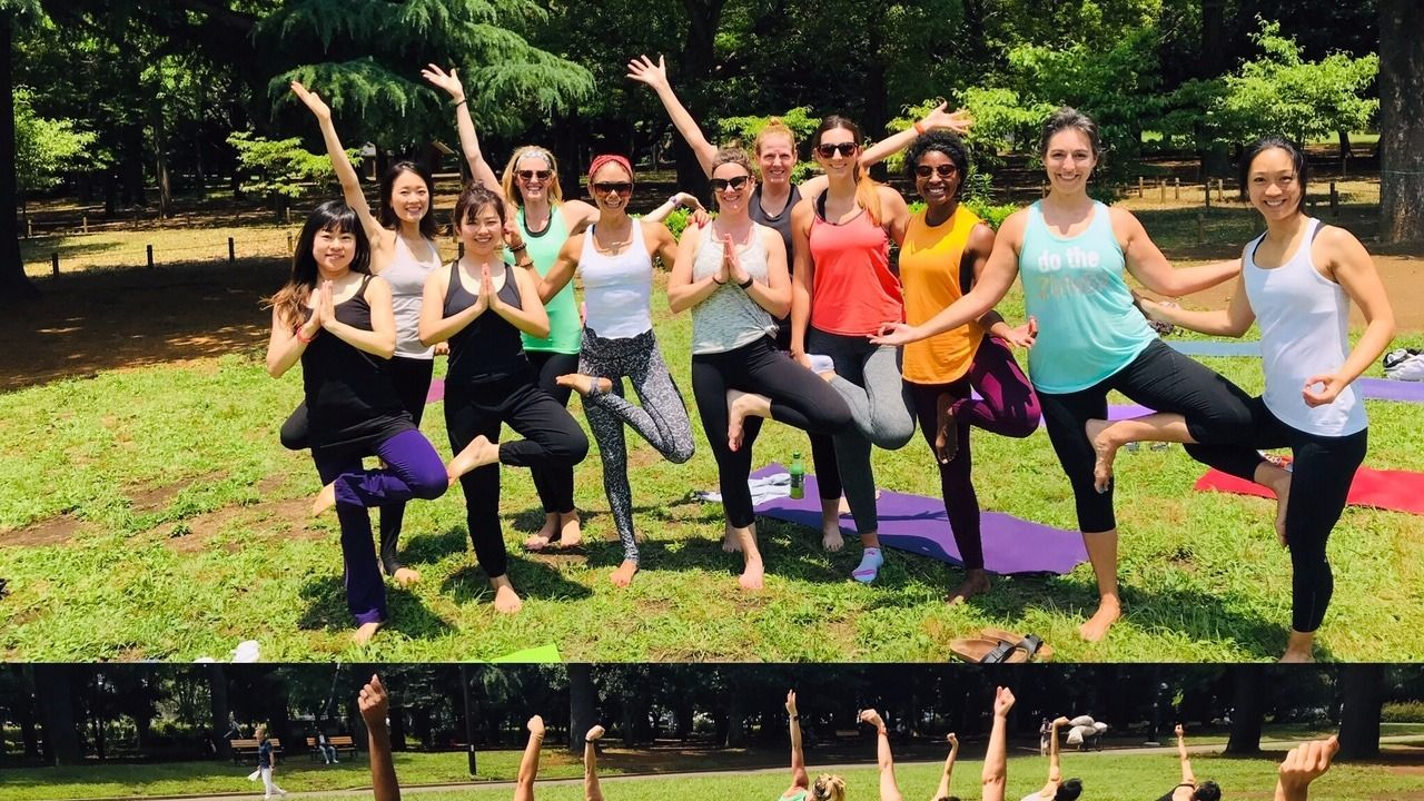 Tokyo Outdoor Yoga with House, Pop & R&B music: Flowtastic!