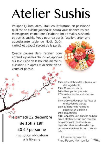 Atelier De Cuisine Japonaise Les Sushis Meetup