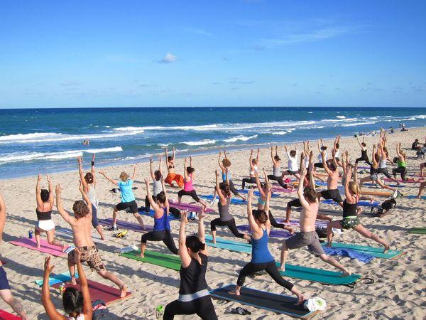 Sunset Beach Yoga On Delray