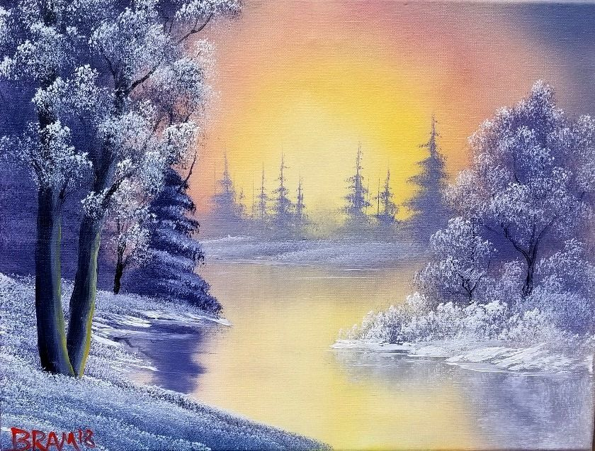 Sold Out Bob Ross Style Painting Class With Certified Ross