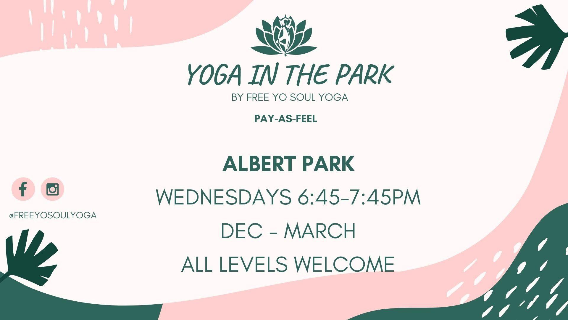 YOGA in Albert Park *Donation Based*