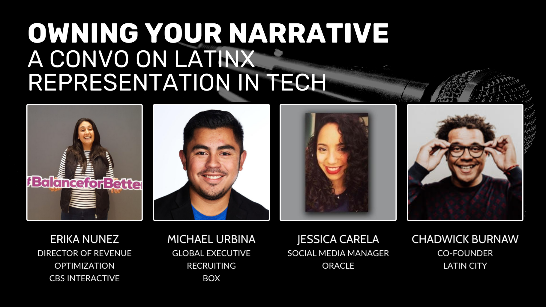 Owning Your Narrative: A Conversation on Latinx Representation