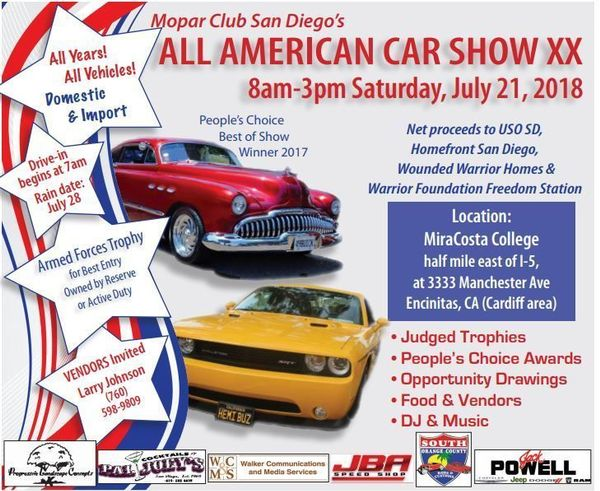 Scooter To All American Car Show Meetup - San diego classic car show 2018