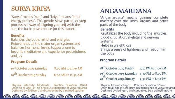 Surya Kriya And Angamardhana Hatha Programs Meetup