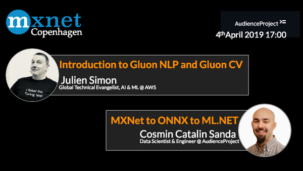 Introduction to Gluon NLP & CV and ONNX | Meetup