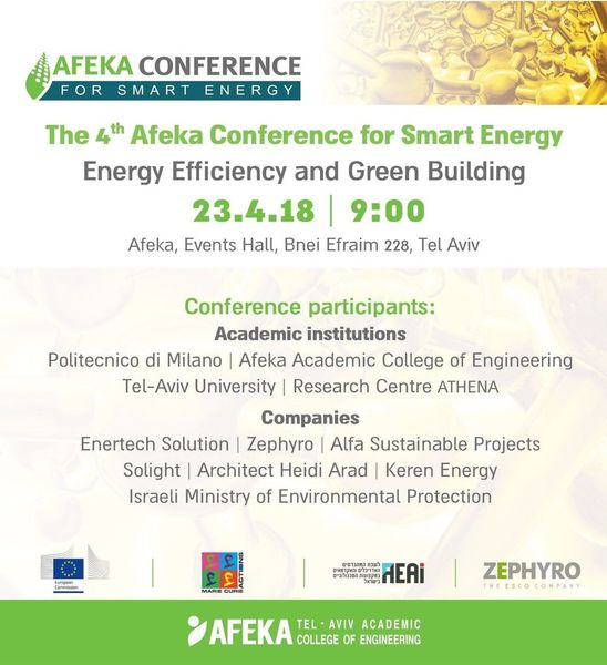 Afeka Conference for Smart Energy Energy Efficiency and Green