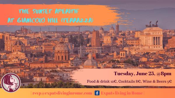 The Sunset Aperitif Gianicolo Hill Terrazza Meetup