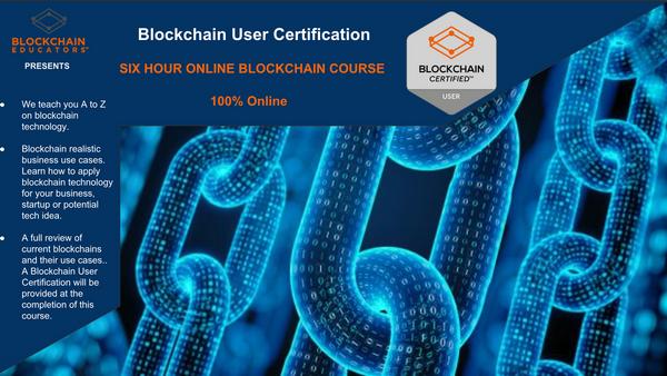 Online - Blockchain User Certification Course   Meetup