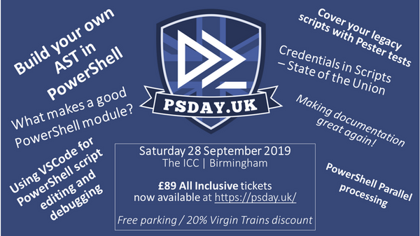 UK's only PowerShell focused conference, PSDayUK 2019