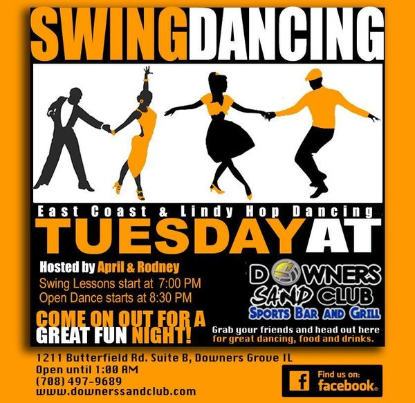 Swing Dance Lessons 7pm 7 45pm Dj Open Dancing 8 30pm Downers Sand Club I 39 M Not Dead