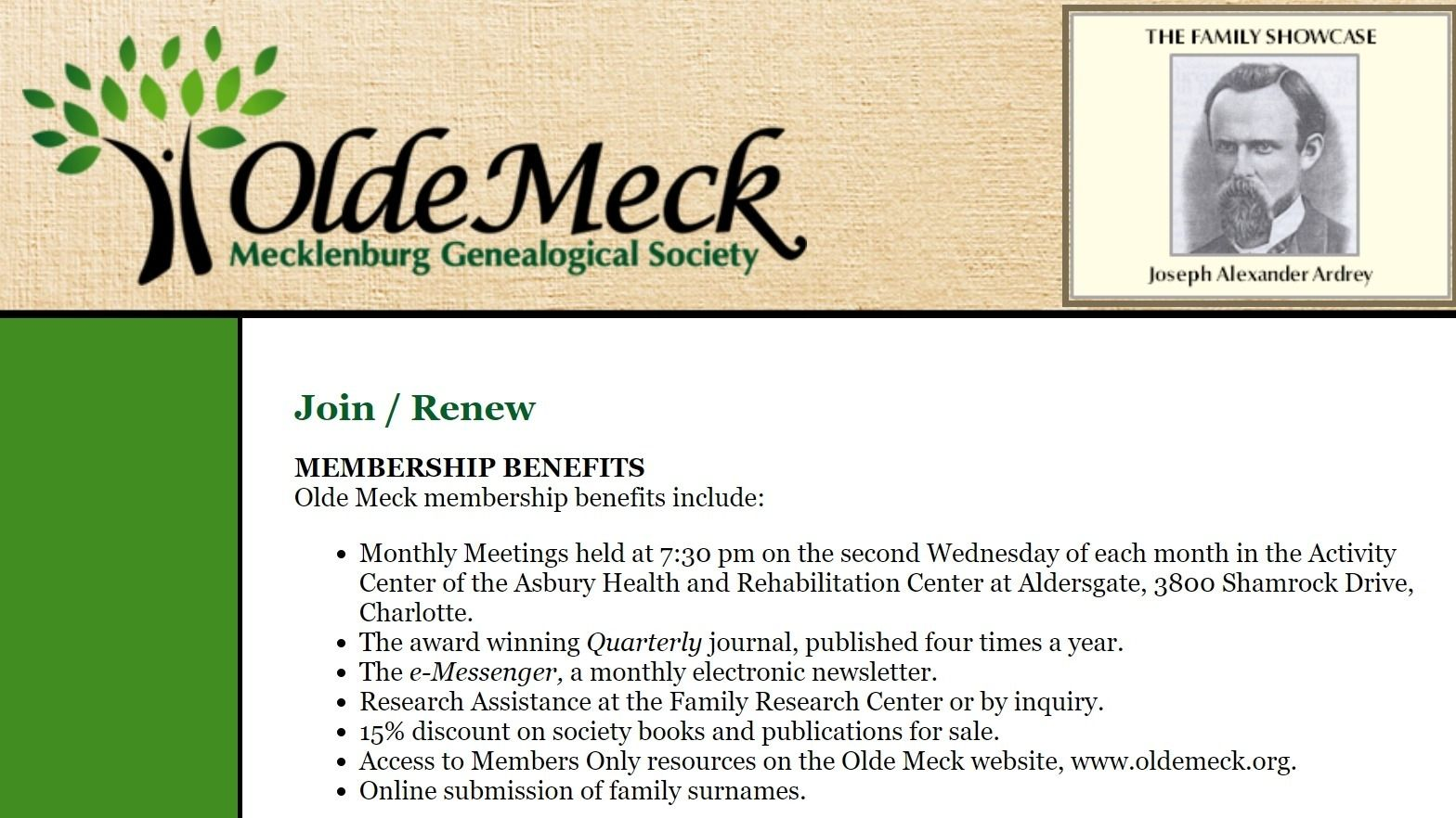 Olde Meck Genealogical Society Meetup