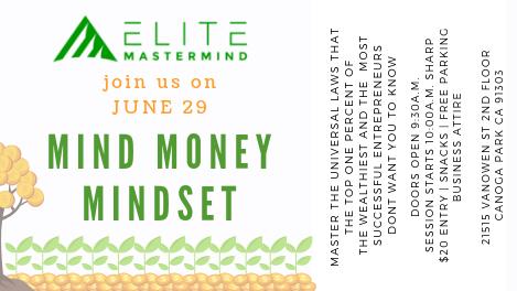 MIND MONEY MINDSET 2 0 | Meetup