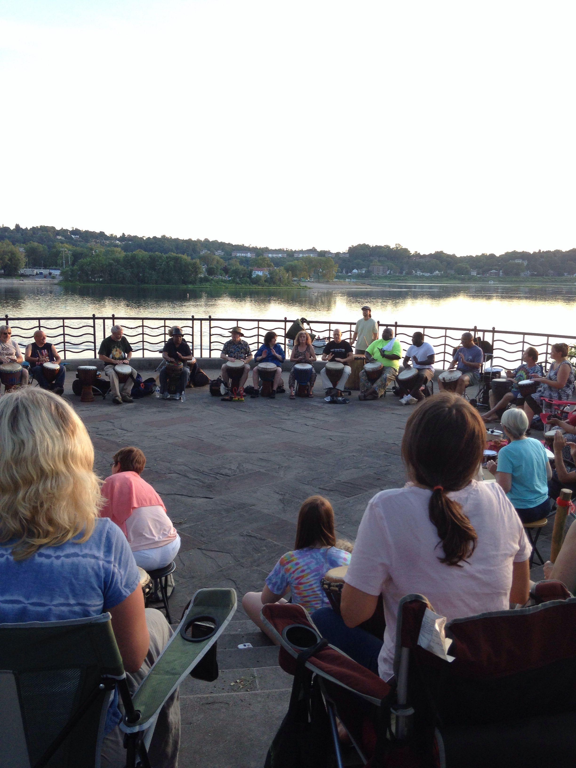 Harrisburg Drumming Along the River