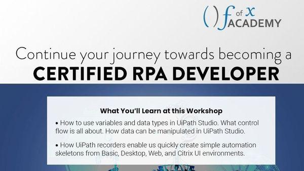 RPA Developer Workshop 2 | Meetup