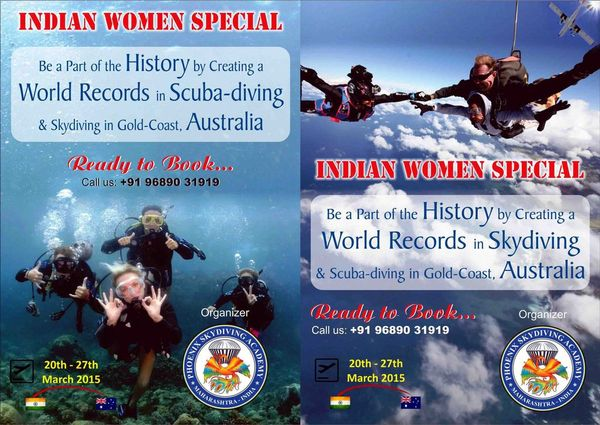 skydiving & scubadiving World record attempt for Indians