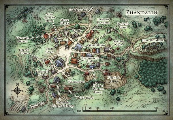 Lost Mine Of Phandelver World Map With Images Fantasy World Map