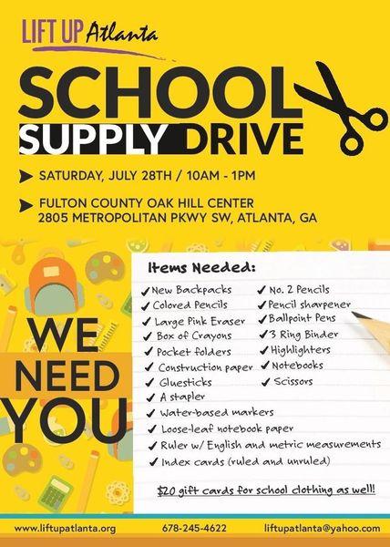 Volunteers Needed For 2018 School Supply Drive