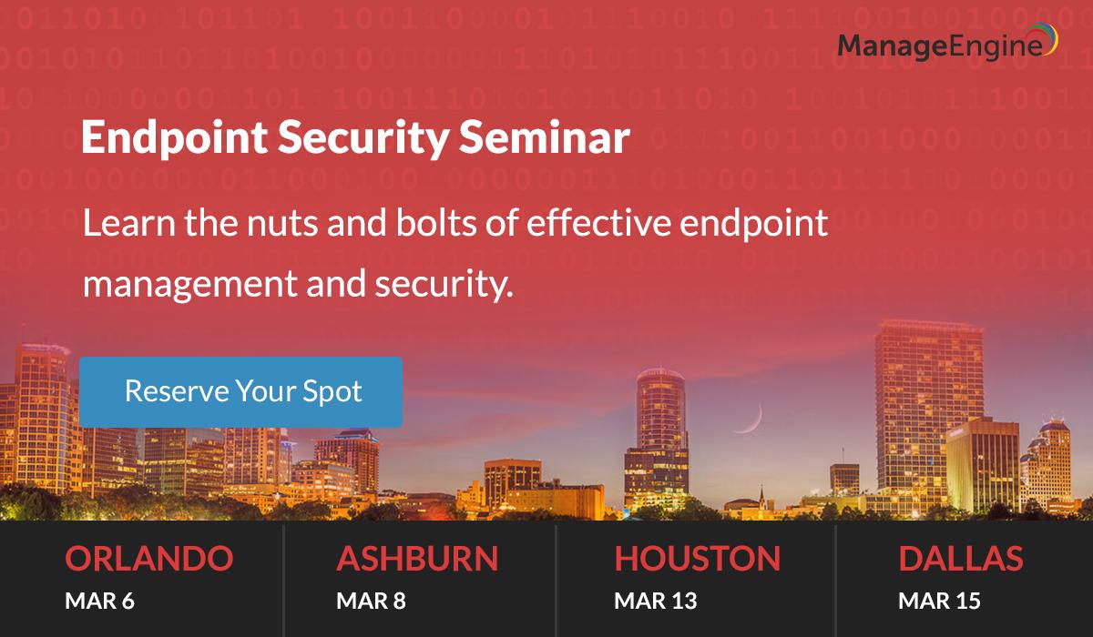 ManageEngine's Cybersecurity Meetups