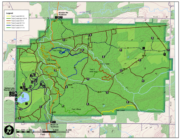 on darien lake map