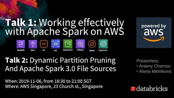 Apache Spark 3 0, AWS Sagemaker, Glue, Athena, Redshift