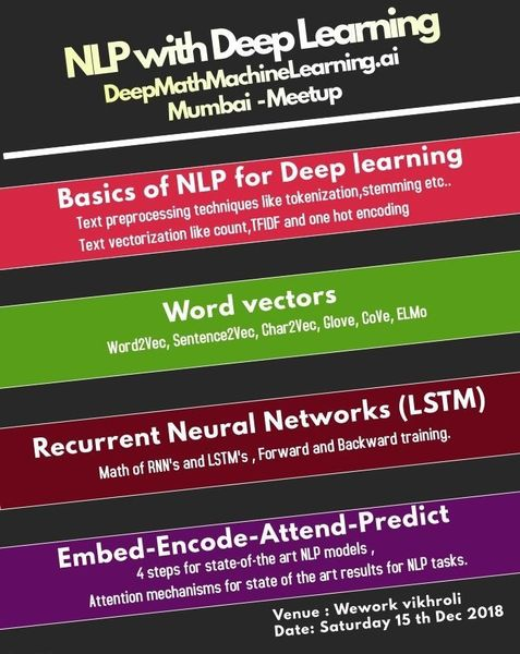 NLP with Deep learning (Basics to Advanced) | Meetup