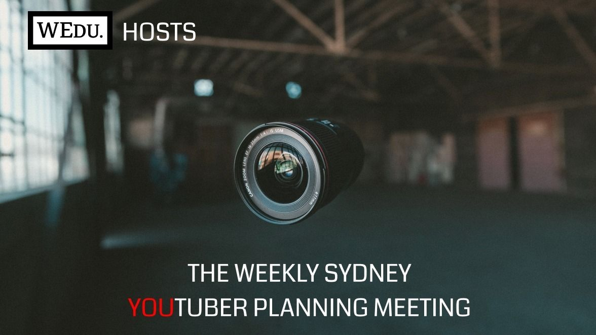 Sydney YouTuber weekly planning meeting