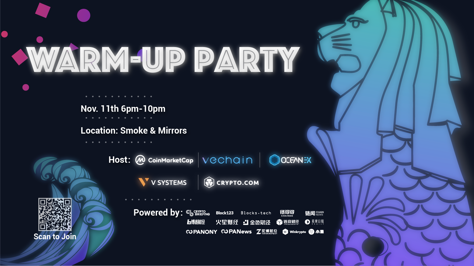 CoinMarketCap The Capital Warm-up Party