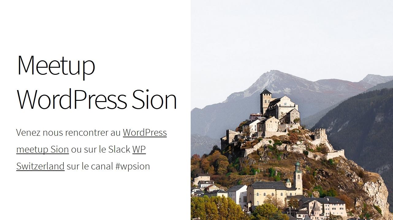 Sion WordPress Meetup