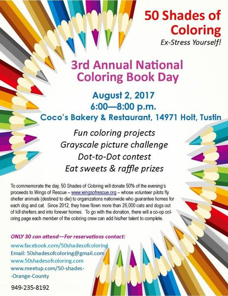 Shades Of Orange Names 3rd annual national coloring book day - 50 shades of coloring