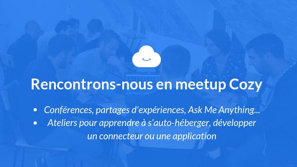Meetup de la Communauté Cozy Cloud en France