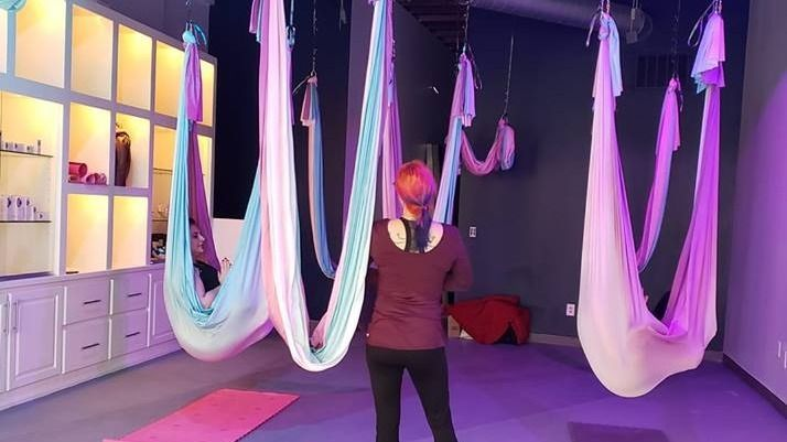 BB Spa & Boutique's Kansas City Aerial Yoga Meetup