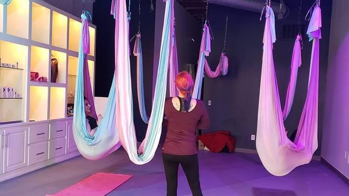 BB Spa & Boutique's Kansas City Aerial Yoga Meetup