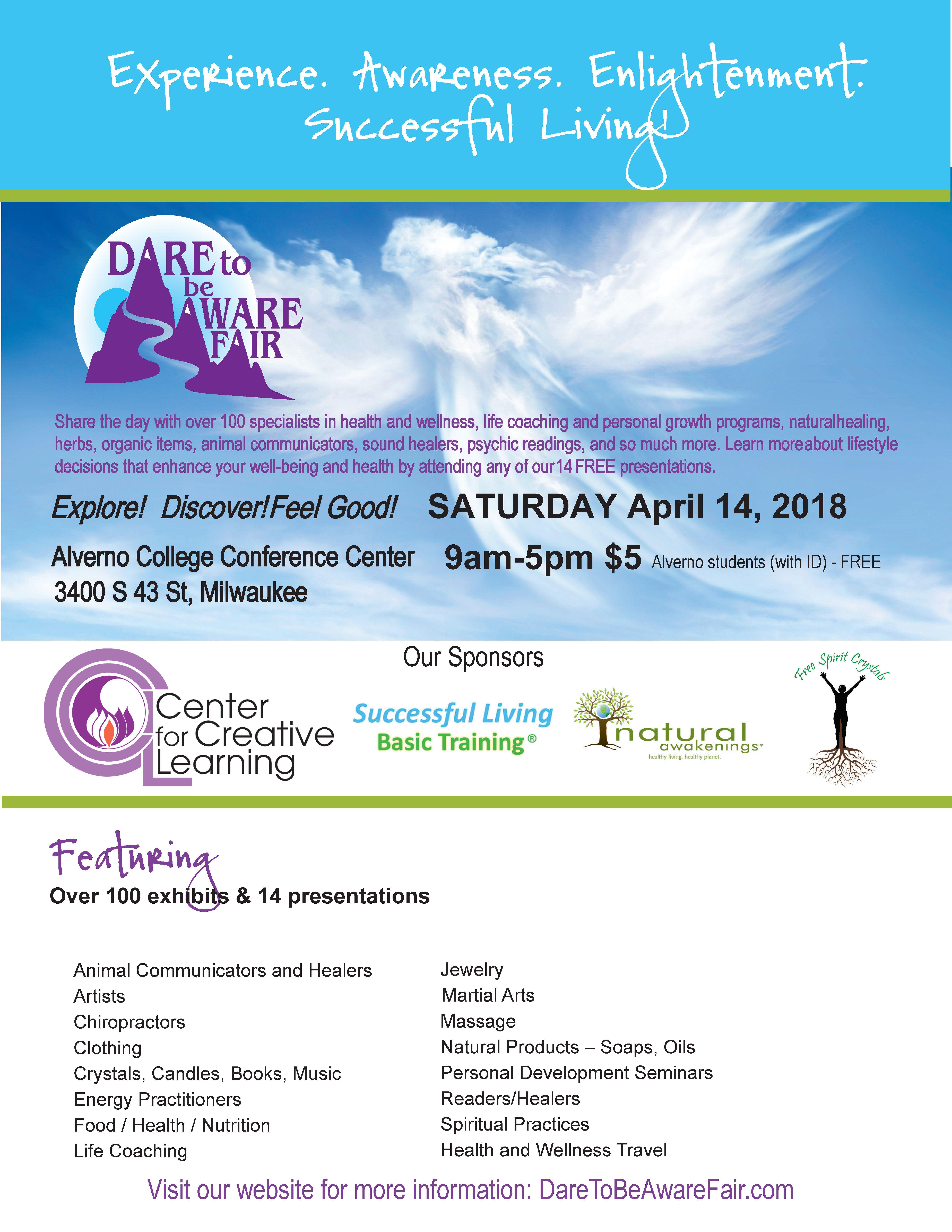 11th Annual Dare to be Aware Fair April 14, 2018