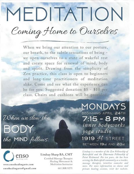 Meditation Coming Home To Ourselves Kern Healing Connections