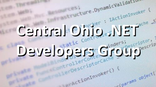 Central Ohio .NET Developer's Group (CONDG)