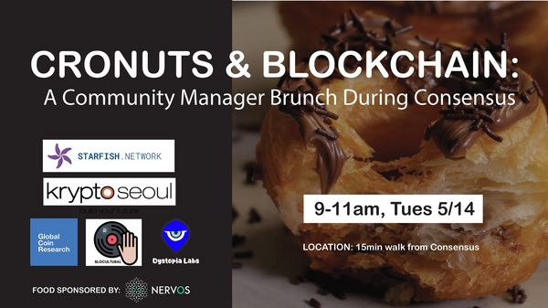 Cronuts & Blockchain: A Community Manager Brunch During