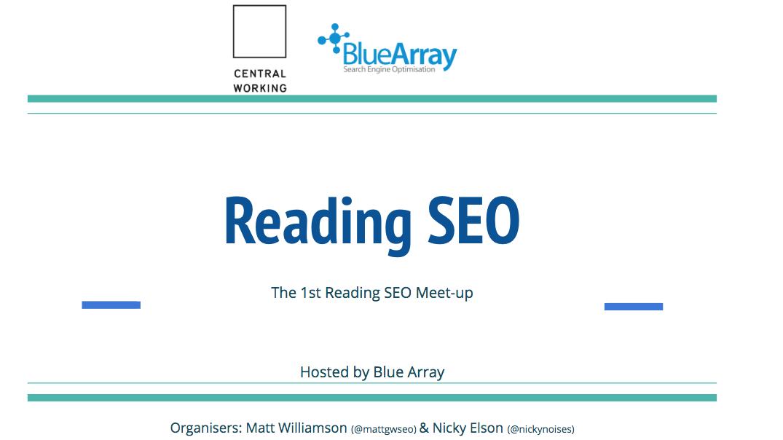 SEO Meetup - Reading, Berkshire