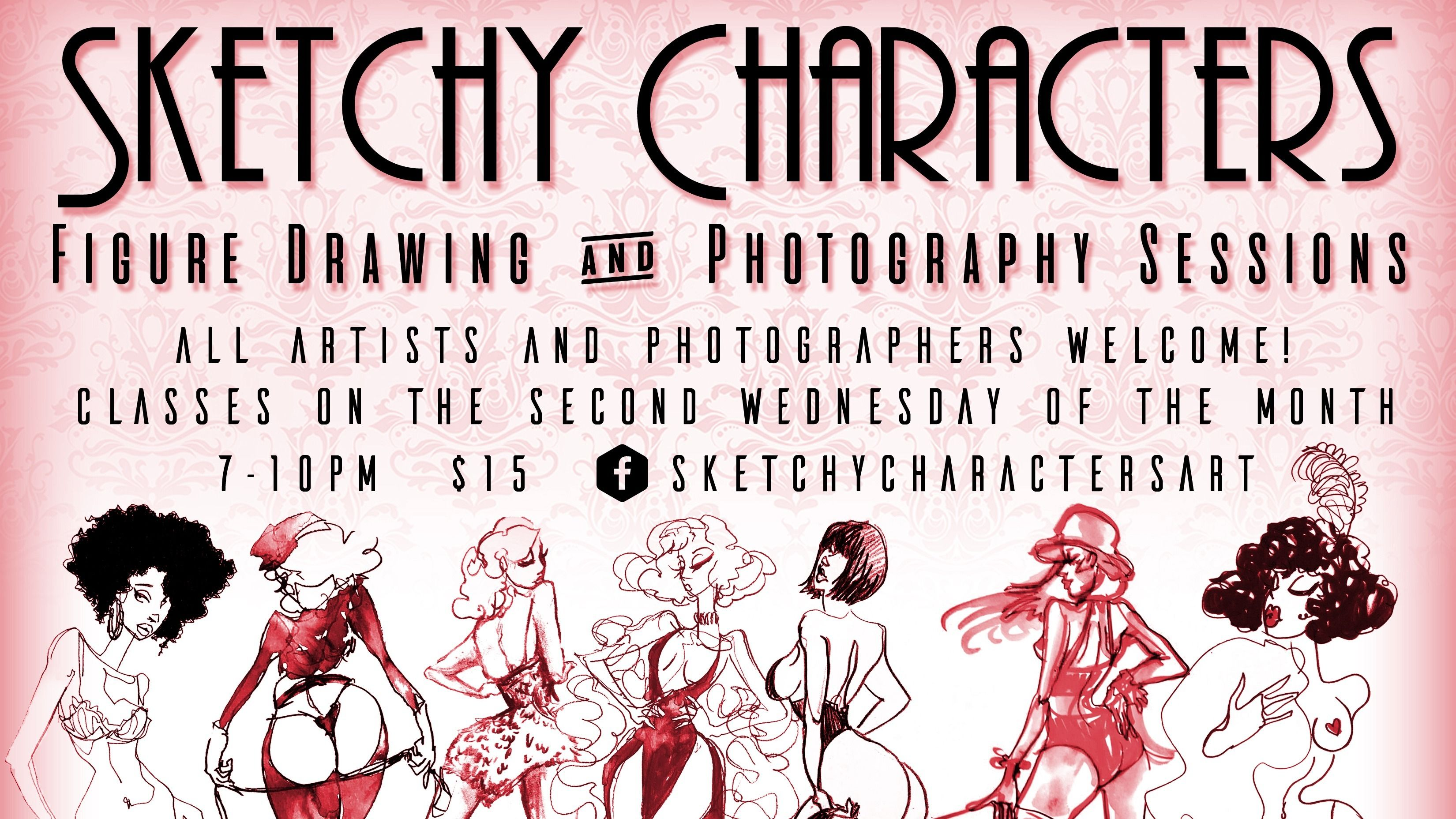 Sketchy Characters: Themed Drawing and Photography Sessions