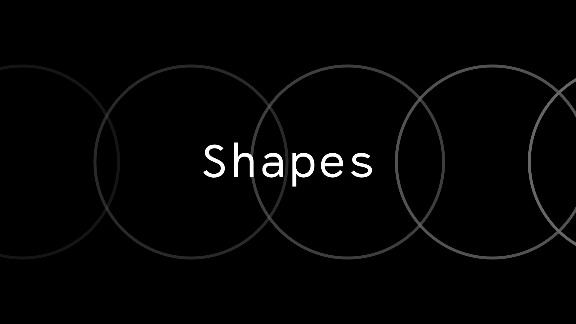 Shapes — Hamburg Design Meetup