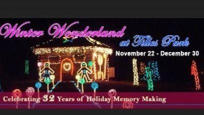 Tilles Park Christmas Lights.Winter Wonderland Walk Meetup