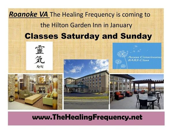 Weekend of REIKI & Access Bars classes in Roanoke | The Healing Frequency (Warrenton, VA) | Meetup