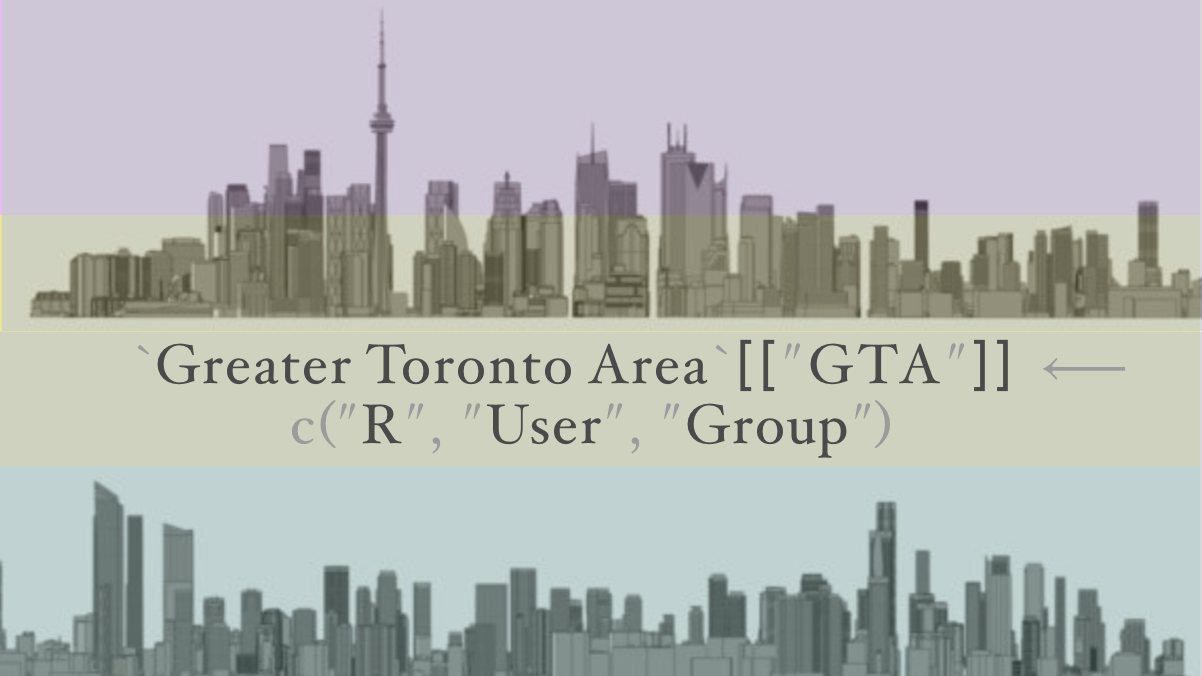 Greater Toronto Area (GTA) R User Group