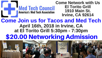 Sign Up For our Irvine Mixer on 4-16-18 with the Med Tech